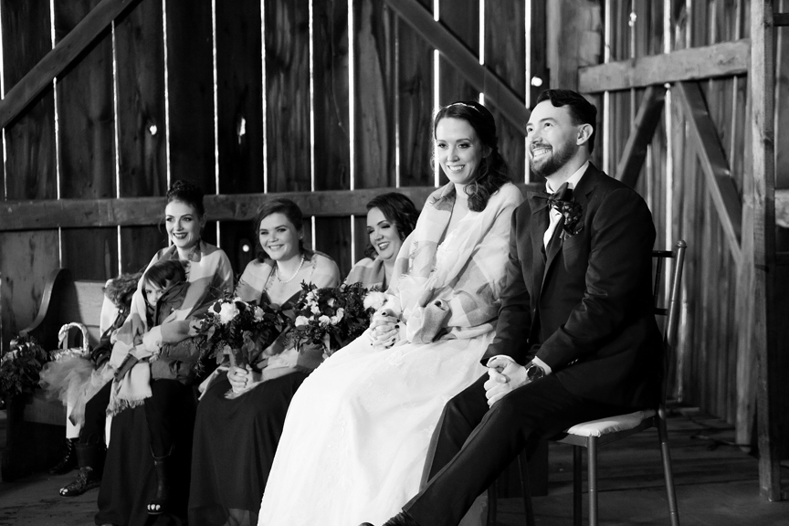 happy groom wedding ceremony at Waterstone Estate and Farms