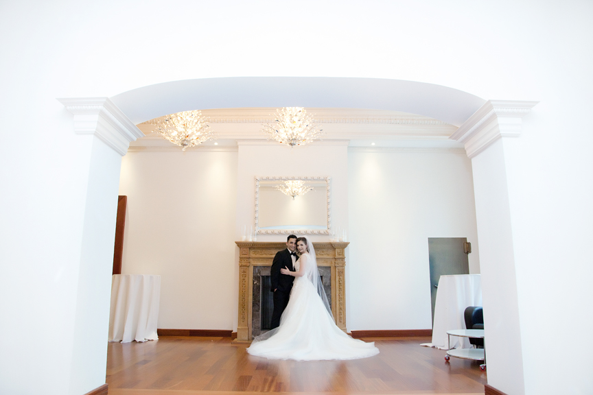 wedding couple at Rosewater Room