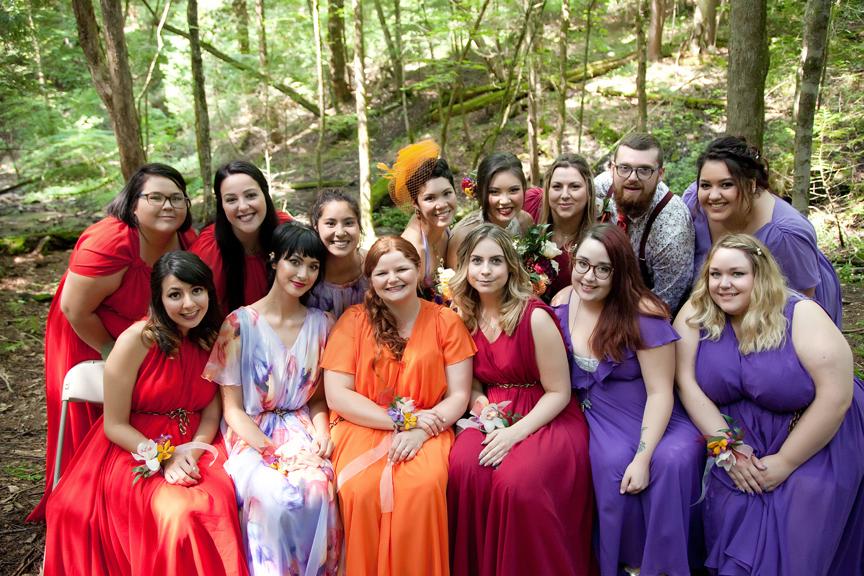 bridesmaids portrait at Ganaraska Forest Centre