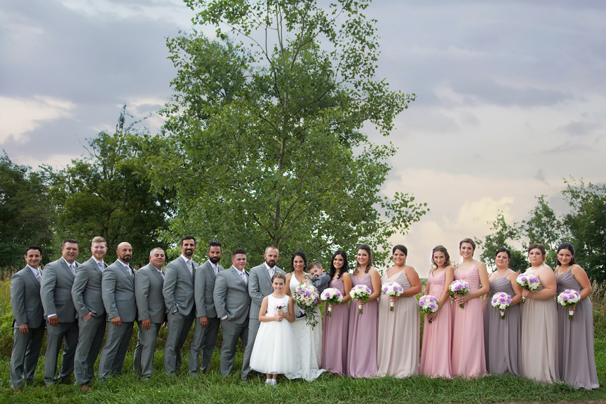 bridal party at Tangle Creek Golf and Country Club