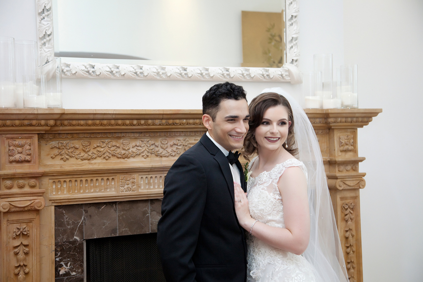 bride and groom at Rosewater Room