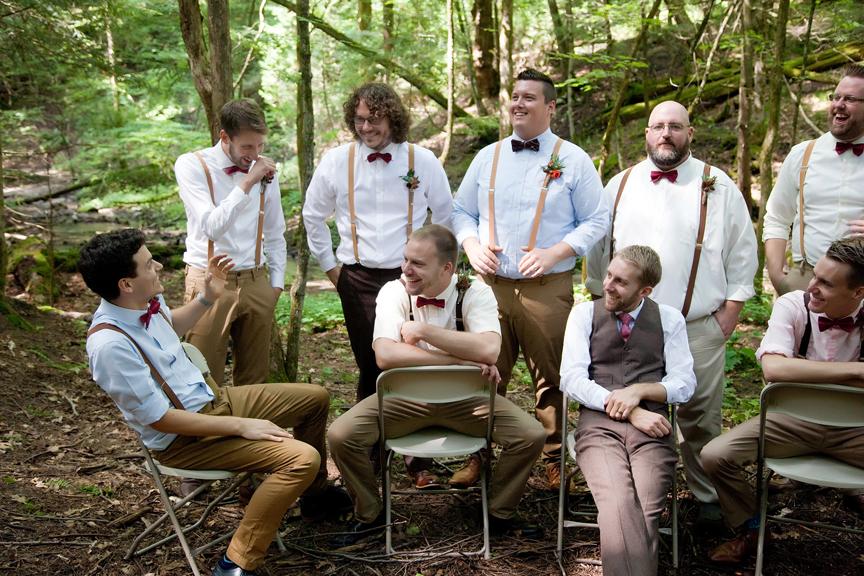groomsmen portrait at Ganaraska Forest Centre