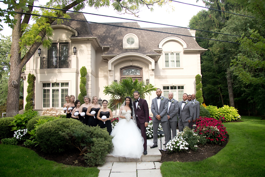 bridal party portrait at Grand Luxe Event Boutique