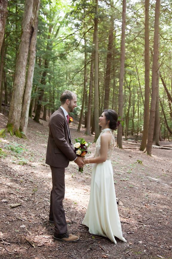 formal wedding portrait at Ganaraska Forest Centre