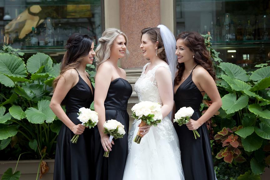 bridesmaids at Rosewater Room