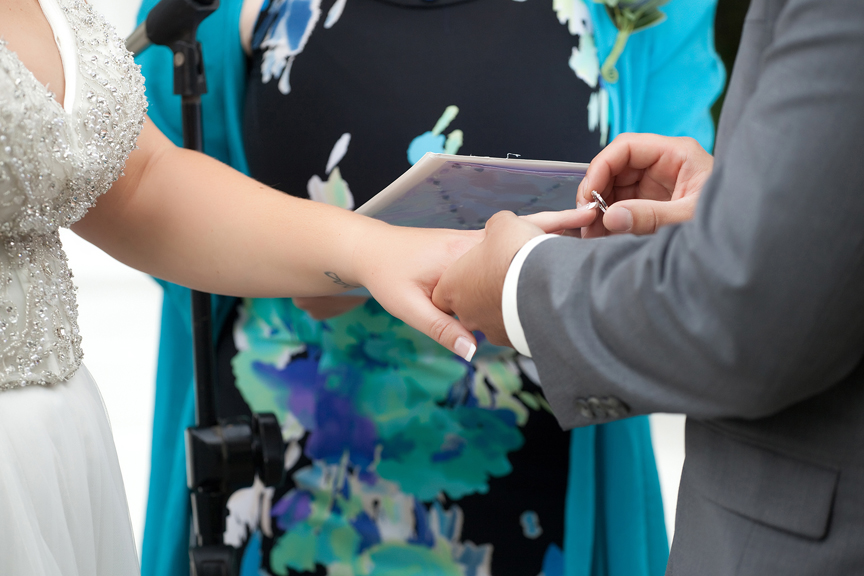 ring exchange wedding ceremony at Paradise Banquet Hall