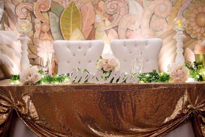 sweetheart table decor at Eglinton Grand