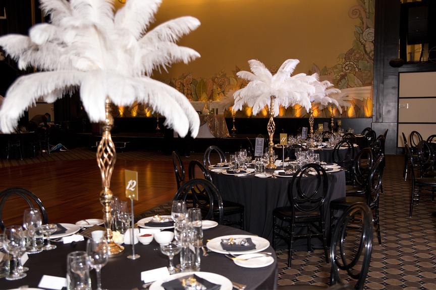 reception decor at Eglinton Grand