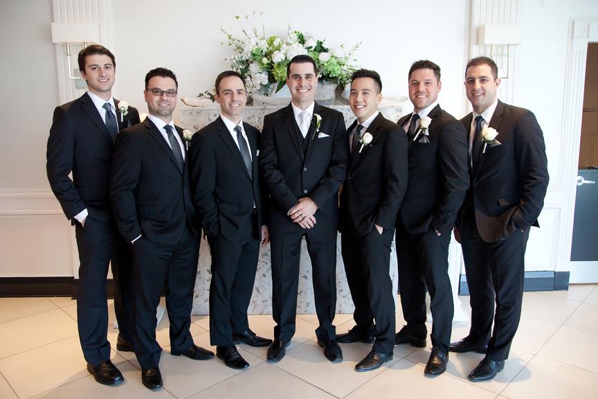 groomsmen portrait at Crystal Fountain