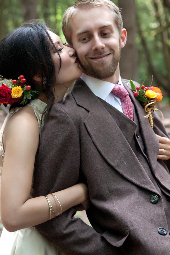 wedding portrait at Ganaraska Forest Centre
