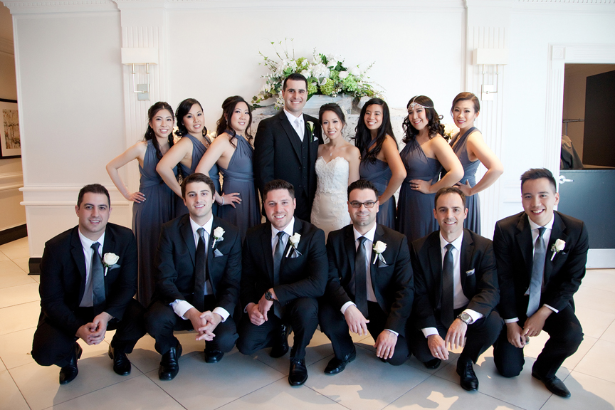 bridal party portrait at Crystal Fountain