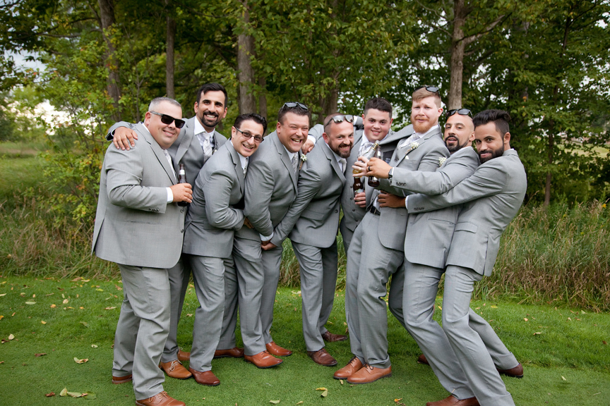 groomsmen at Tangle Creek Golf and Country Club