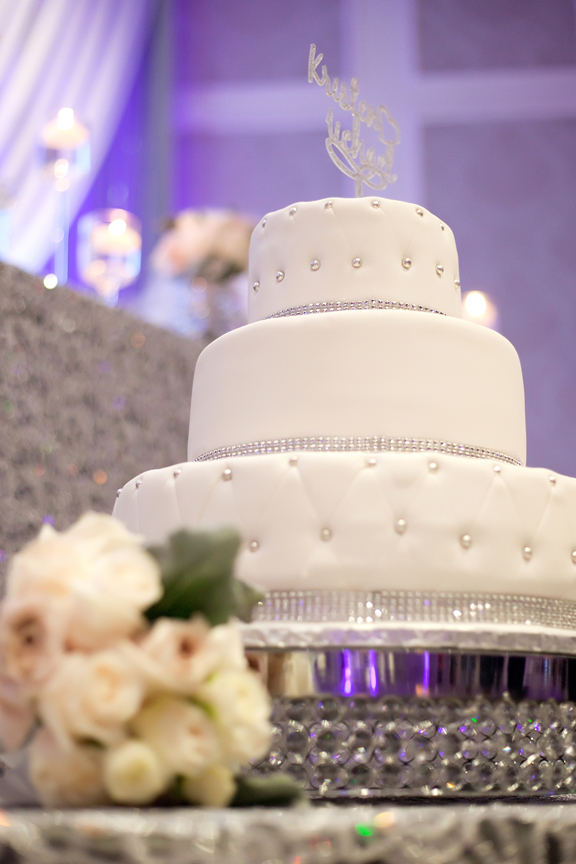 cake decor wedding reception at Crystal Fountain