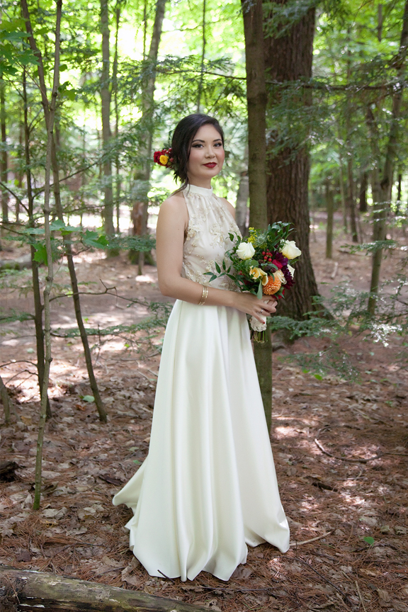 bride portrait at Ganaraska Forest Centre