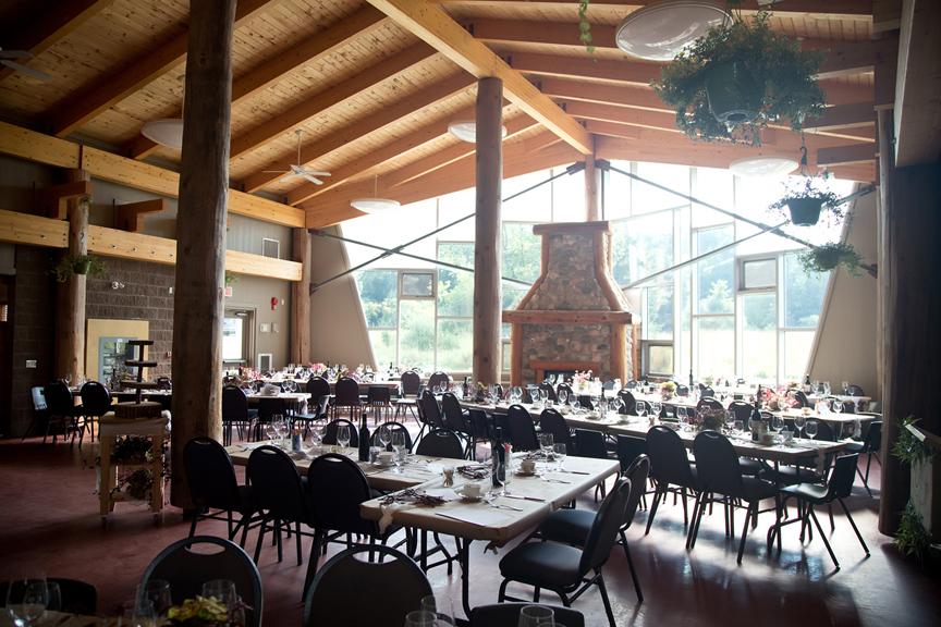 reception decor at Ganaraska Forest Centre