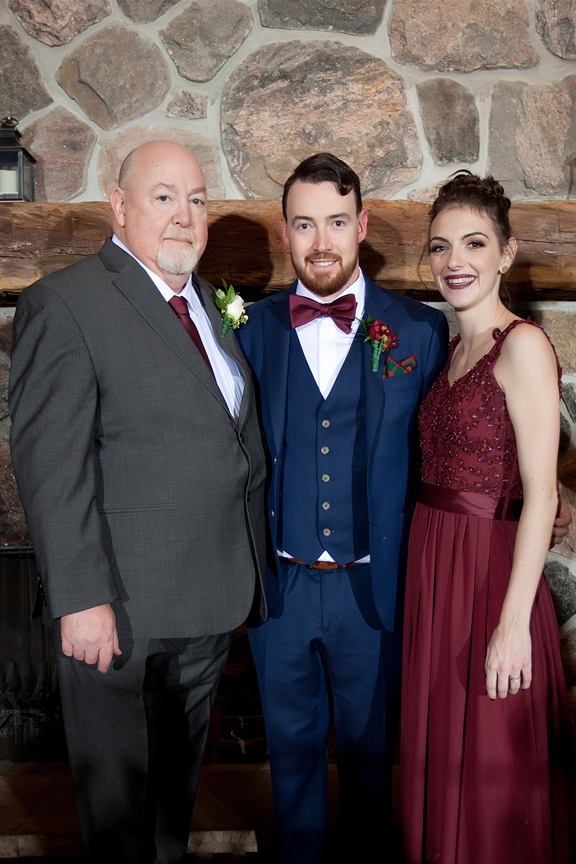 family portrait with the groom