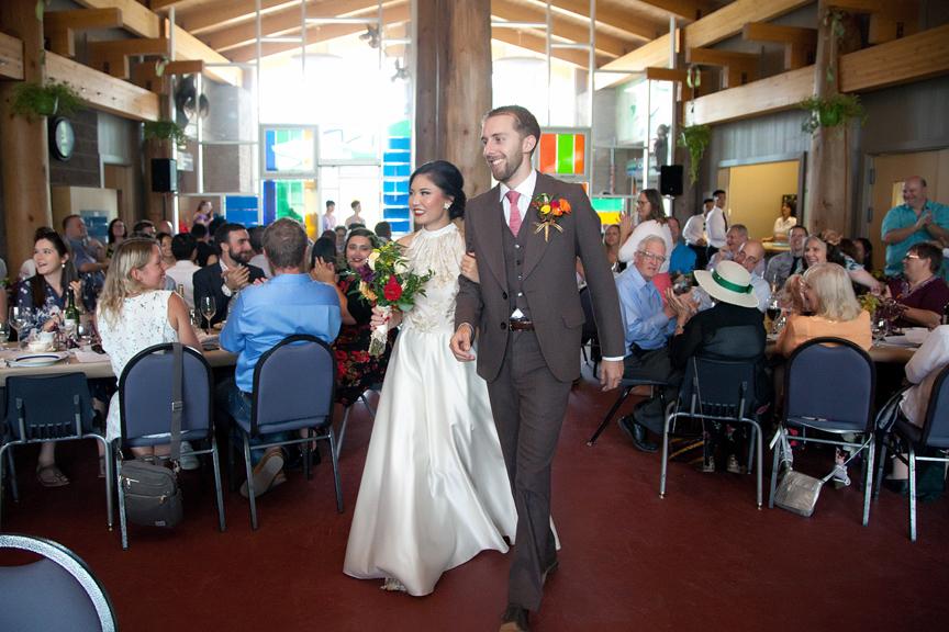 grand entrance wedding reception at Ganaraska Forest Centre