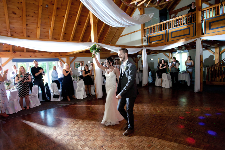 grand entrance wedding reception at Trillium Trails Banquet Centre