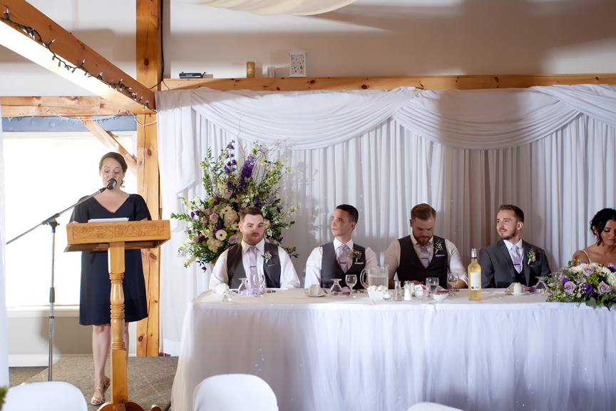 bridesmaid speech wedding reception