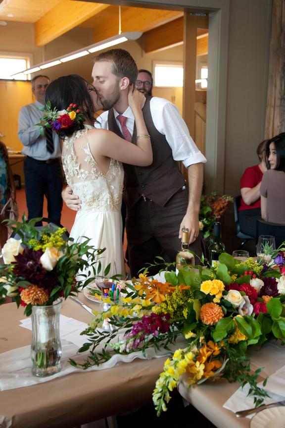 kissing games wedding reception at Ganaraska Forest Centre