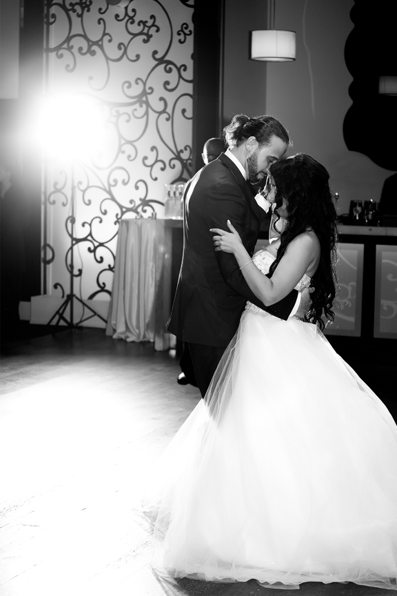 couple first dance Greek and Albanian wedding reception at Grand Luxe Event Boutique
