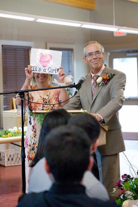 parent's speech wedding reception at Ganaraska Forest Centre