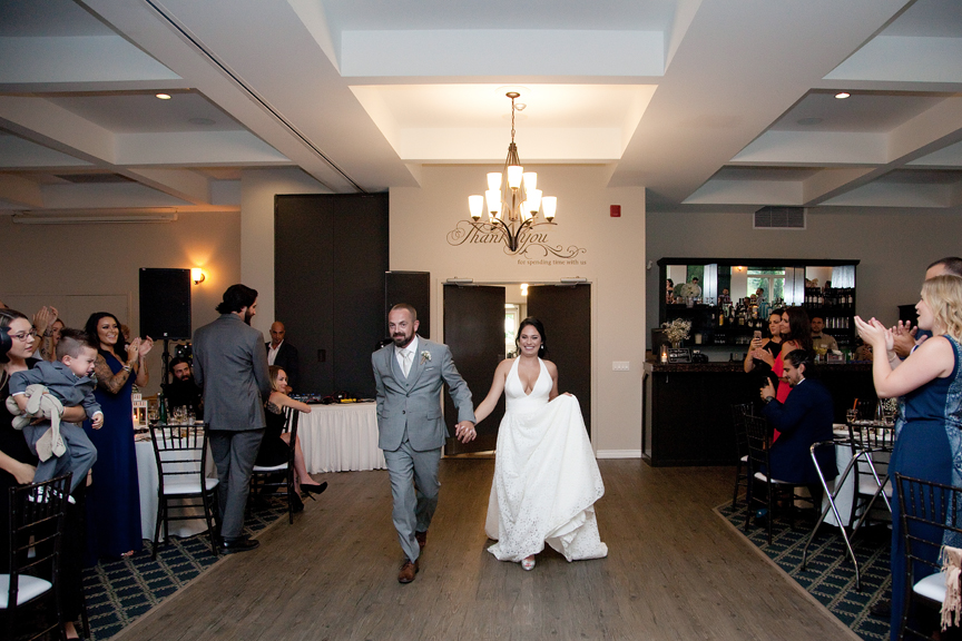 grand entrance wedding reception at Tangle Creek Golf and Country Club