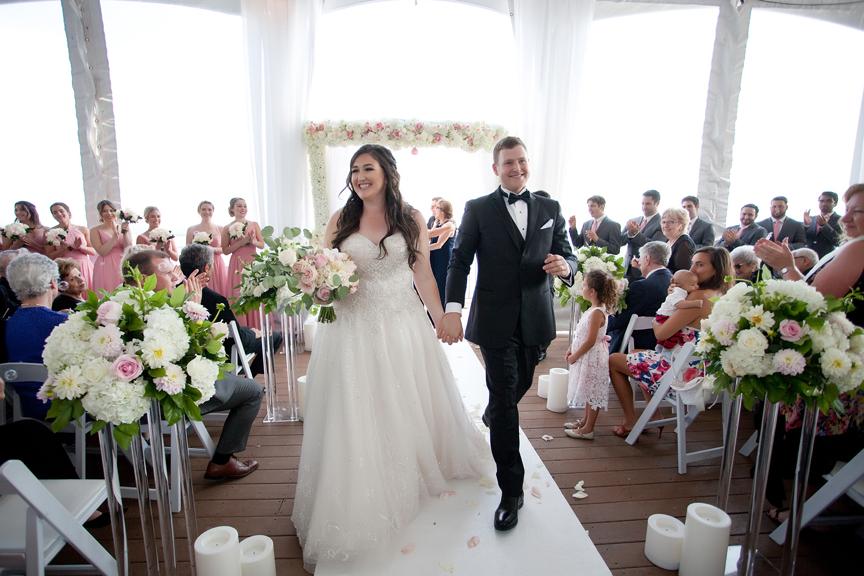 recession Jewish wedding ceremony at Palais Royale