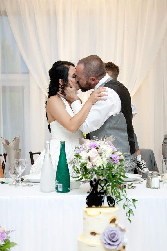 kissing game wedding reception at Tangle Creek Golf and Country Club