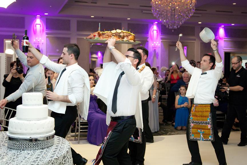 pig dance Greek wedding reception at Crystal Fountain