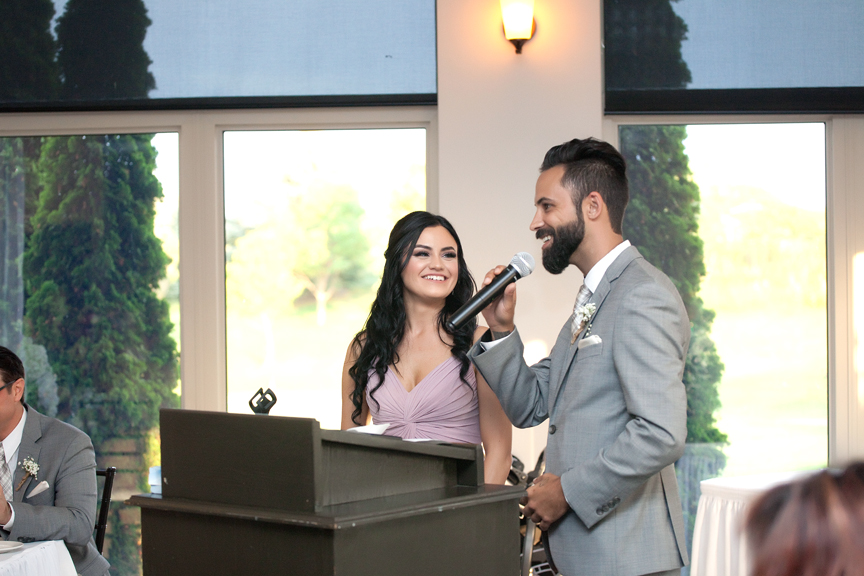 sibling speech wedding reception at Tangle Creek Golf and Country Club
