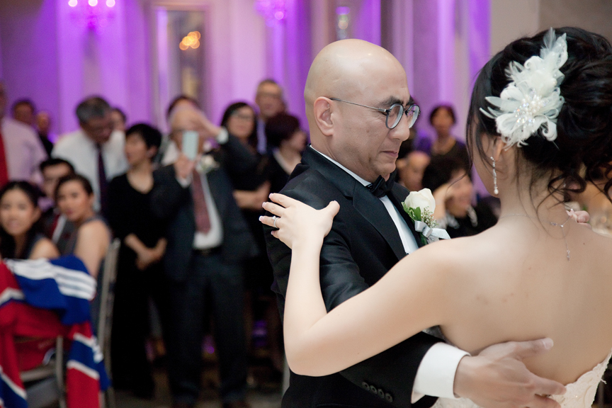 father daughter dance wedding reception at Crystal Fountain