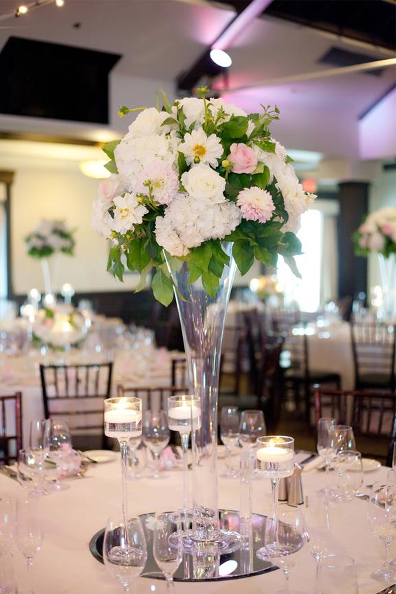 centrepiece decor Wedding reception at Palais Royale