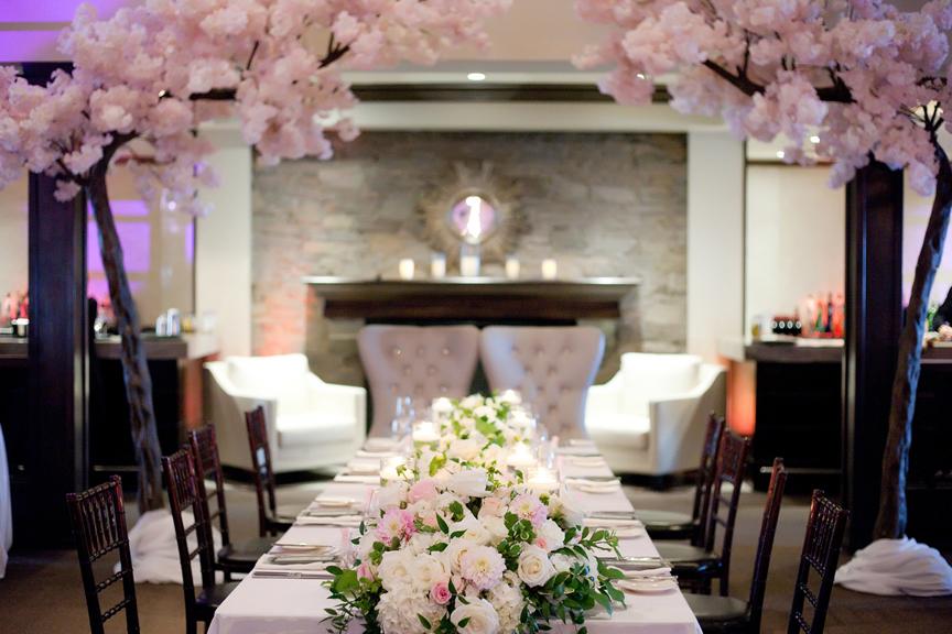 head table decor Wedding reception at Palais Royale