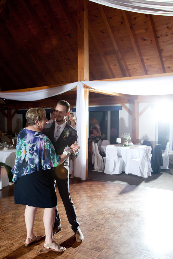 mother son dance wedding reception at Trillium Trails Banquet Centre