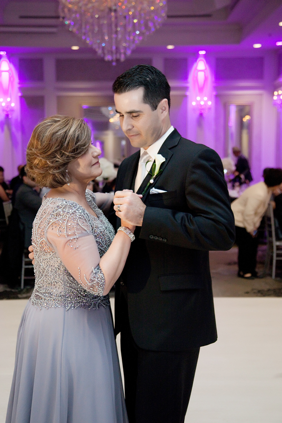 mother son dance wedding reception at Crystal Fountain