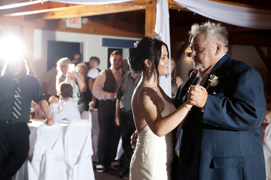 father daughter dance wedding reception at Trillium Trails Banquet Centre