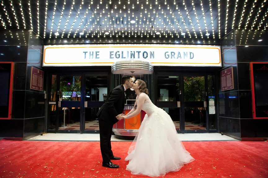 married couple nigh portrait at Eglinton Grand