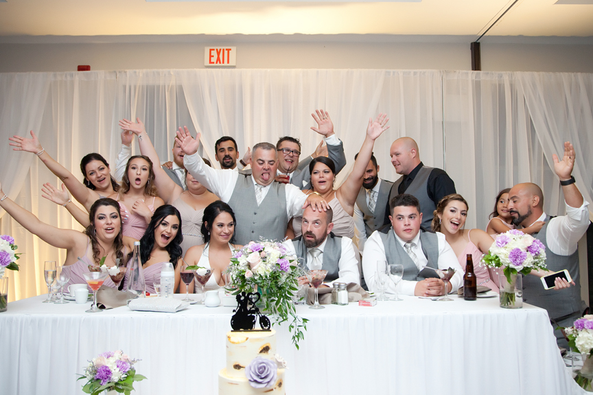 bridal party wedding reception at Tangle Creek Golf and Country Club