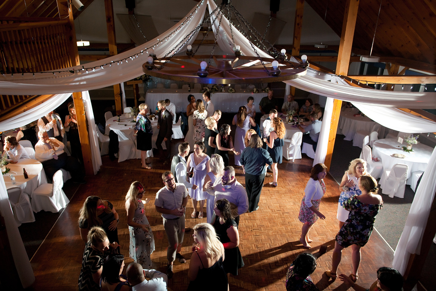 dance party wedding reception at Trillium Trails Banquet Centre