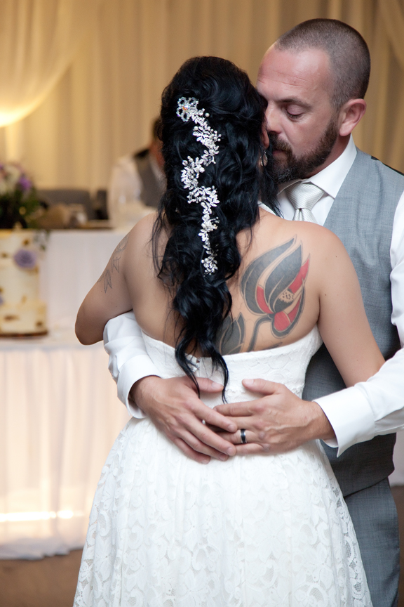 couple's first dance wedding reception at Tangle Creek Golf and Country Club