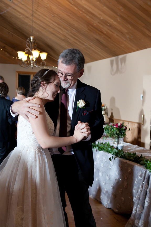 father daughter dance wedding reception at Waterstone Estate and Farms