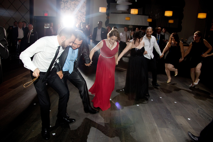 family dancing Greek and Albanian wedding reception at Grand Luxe Event Boutique