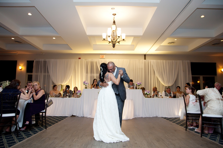 father daughter dance wedding reception at Tangle Creek Golf and Country Club