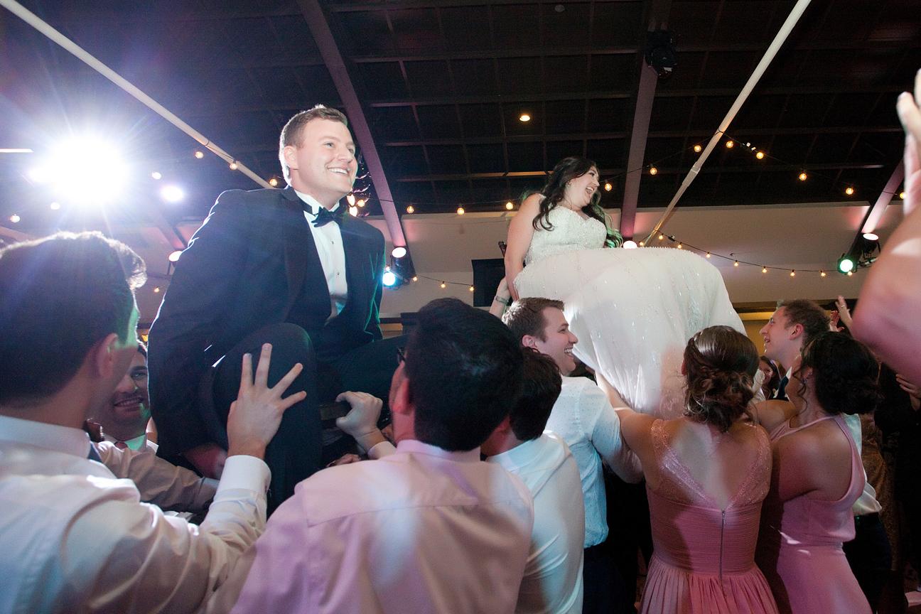 jewish wedding couple at Palais Royale