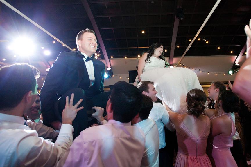 jewish hora Wedding reception at Palais Royale
