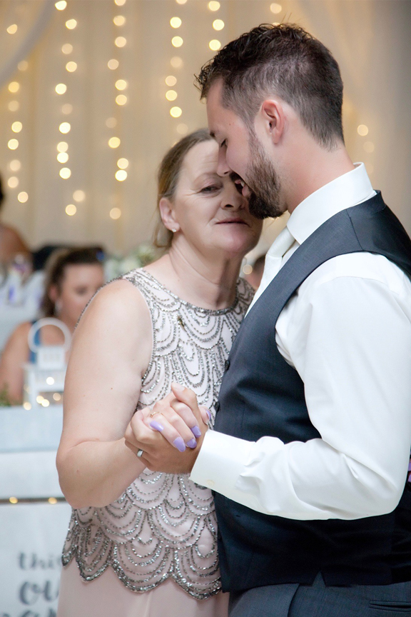 mother son dance wedding reception at Paradise Banquet Hall