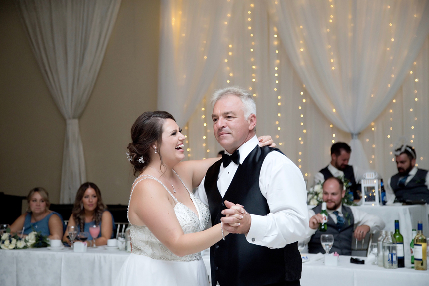 father daughter dance wedding reception at Paradise Banquet Hall