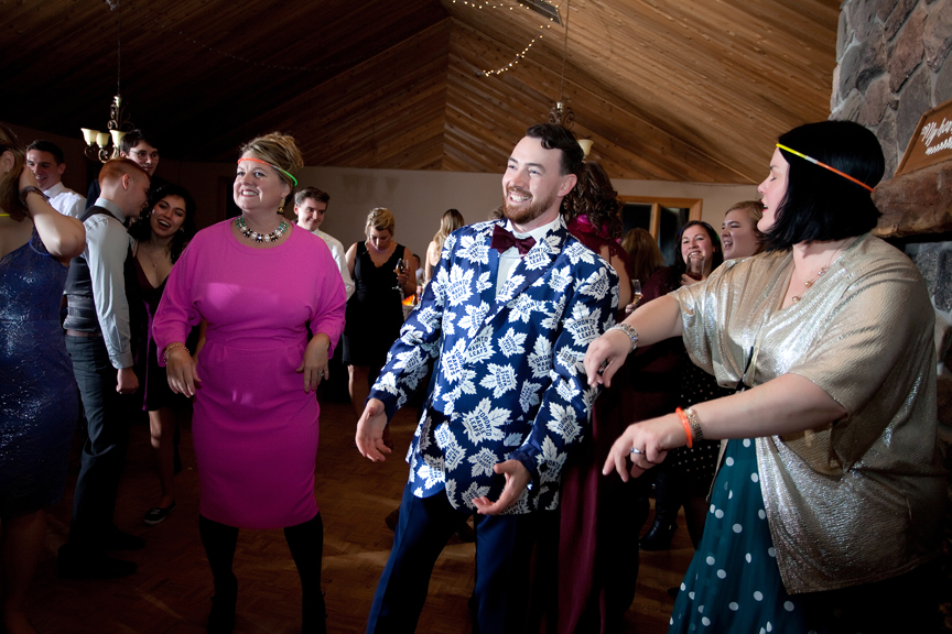 dance party wedding reception