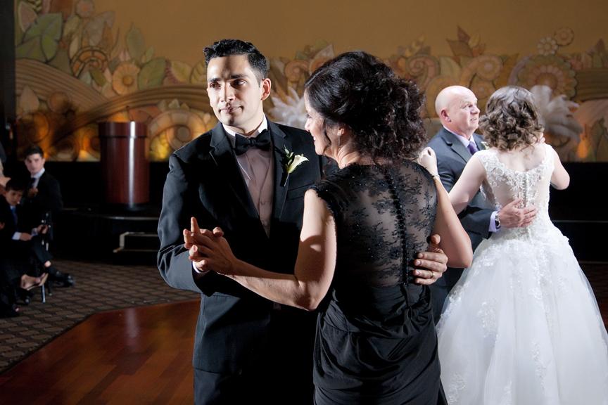 mother son dane wedding reception at Eglinton Grand